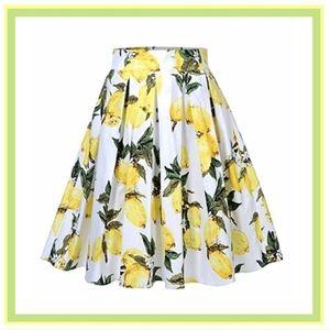 🍋Lemon🍋 Print Flare Skirt